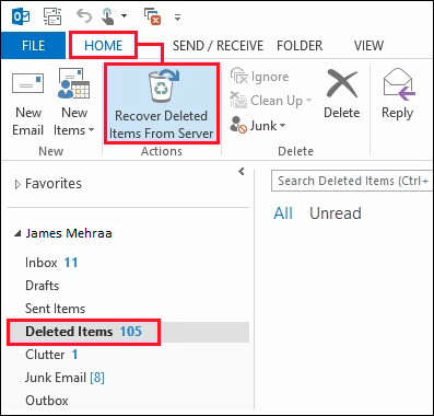 Recover Deleted Contacts from Outlook