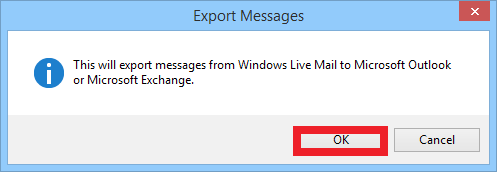 export messages from Windows live mail