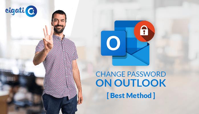 change password in Outlook