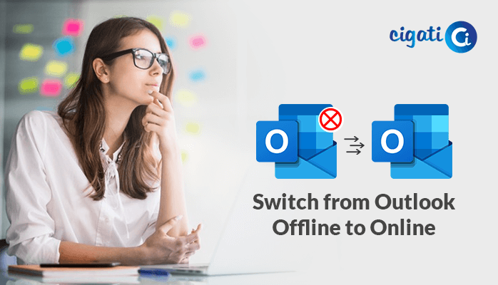 How to Switch from Outlook Working Offline to Online
