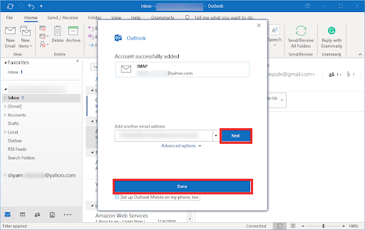 Configure Yahoo Mail in Outlook
