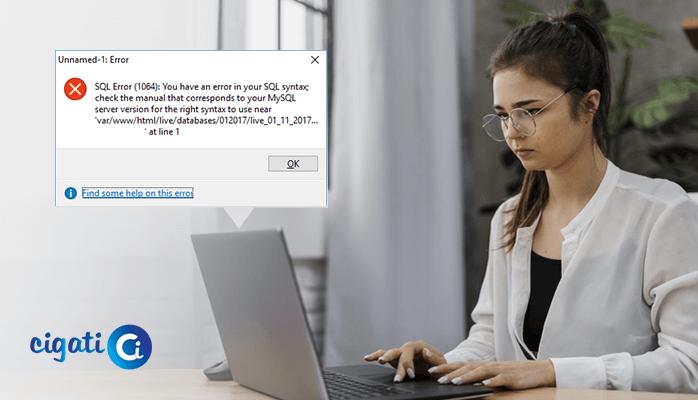 MySQL error 1064