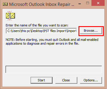 how to open archive pst
