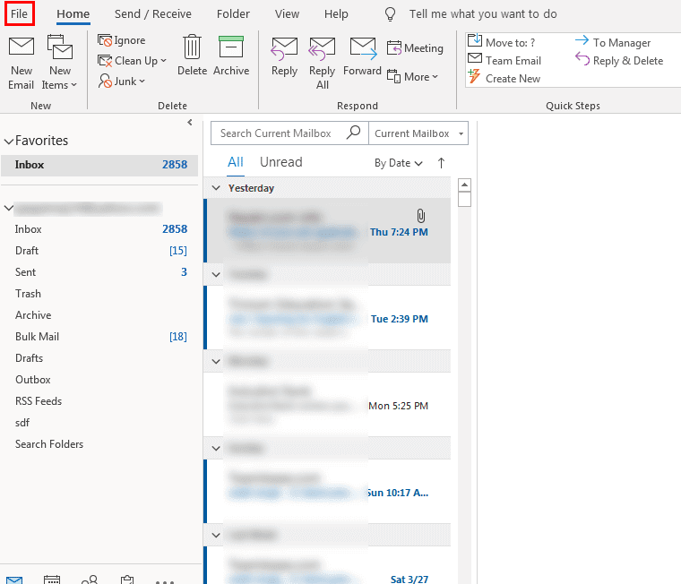 Save IMAP Mailbox Data in Outlook PST