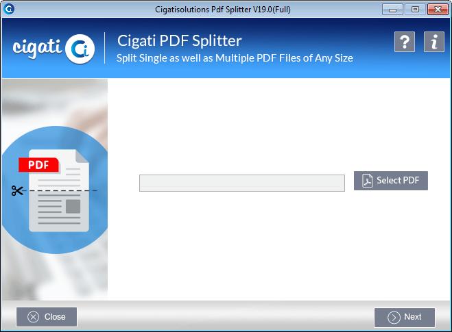 Cigati PDF File Splitter