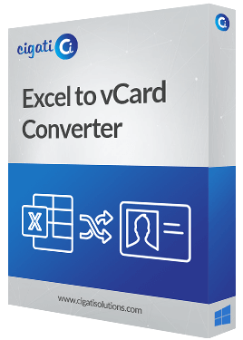 Excel to VCard Converter Software Box