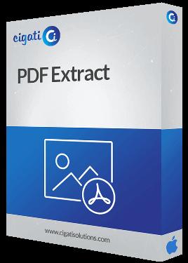 Mac PDF Extractor Tool Software Box