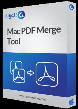 Mac PDF Merge Tool Software Box