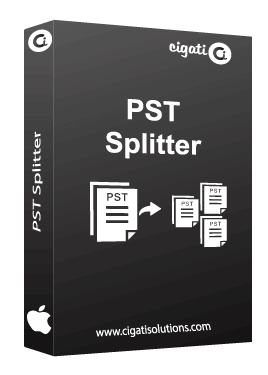 Mac PST Splitter Tool Software Box