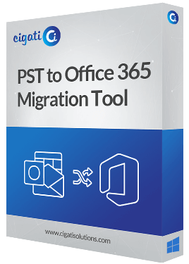 PST to Office 365 Migrator Software Box