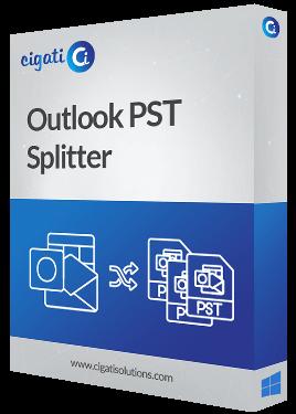 Outlook PST Splitter Tool Software Box