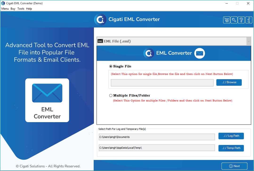 EML to PST Converter - Convert EML to PST File Format