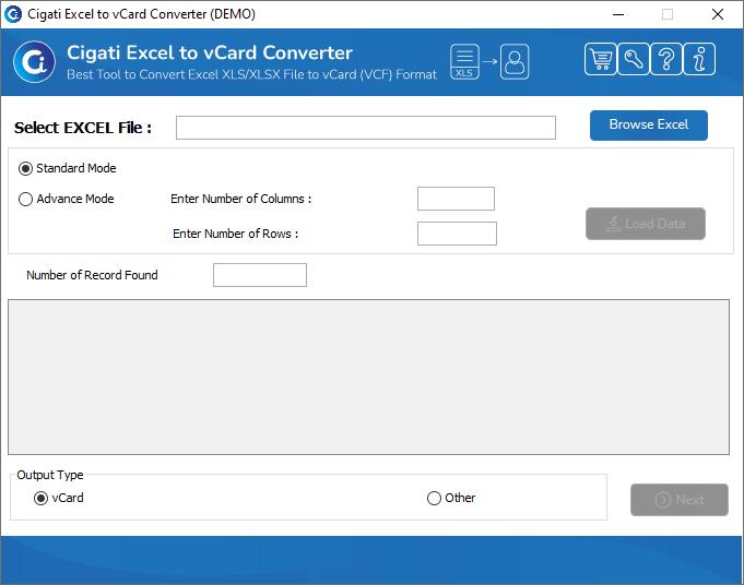 Cigati Excel to vCard Converter Tool