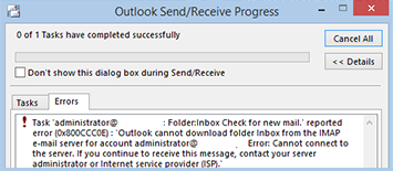 Sending & Receiving Email Issue in IMAP