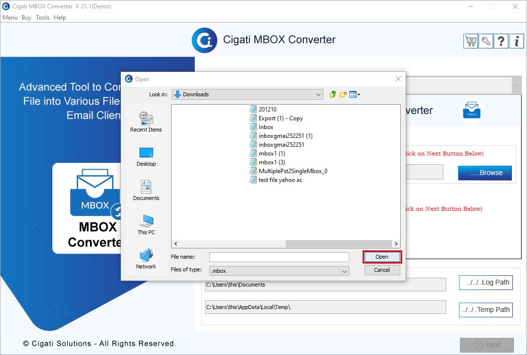 Mbox File Size Limit