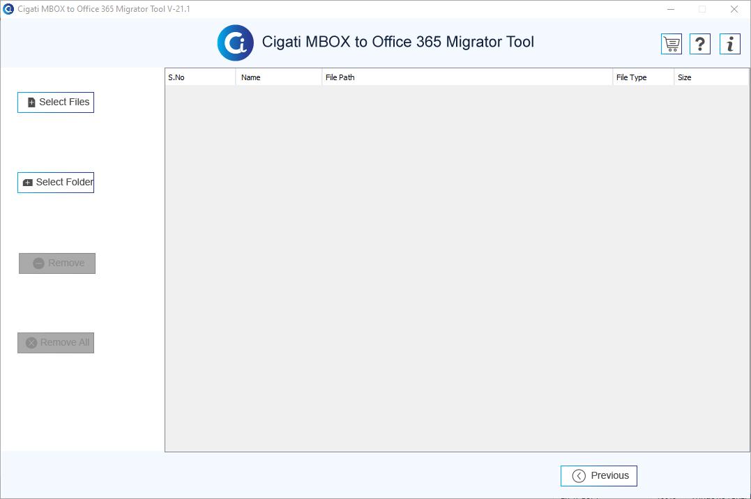Cigati MBOX to Office 365 Migrator Tool