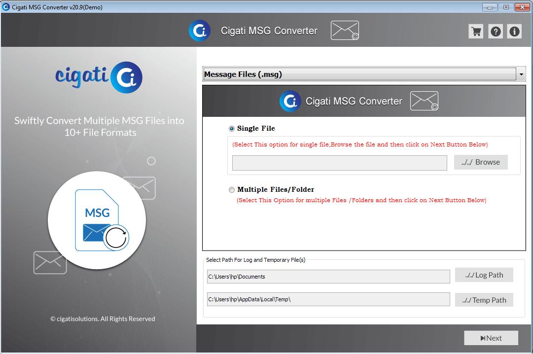 Cigati MSG Converter