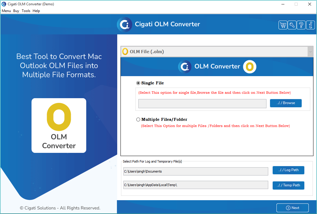 OLM to PST Converter, OLM to PST Converter Tool, OLM to PST Converter Software, One Time - Free OLM to PST Converter, Best OLM to PST Converter, Outlook OLM to PST