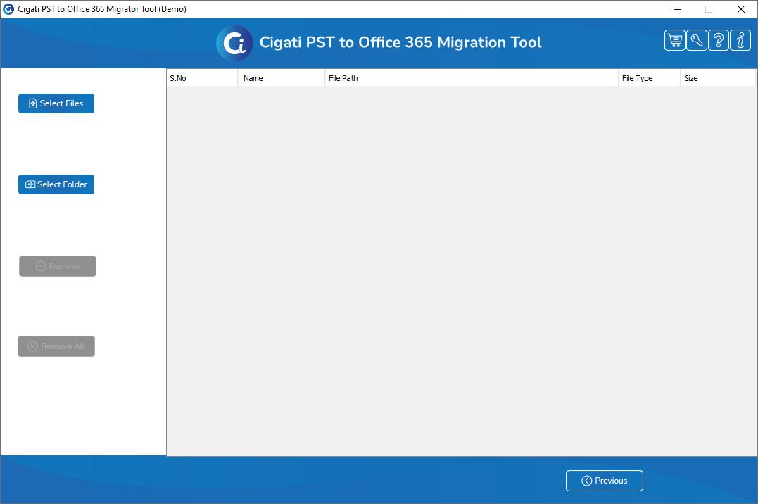 Cigati PST to Office 365 Migrator Tool