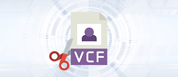To Split Large-Sized VCF/vCard Files